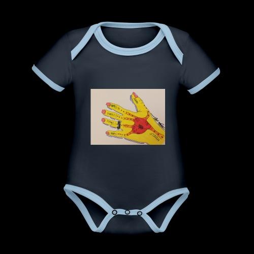 9D8D600F D04D 4BA7 B0EE 60442C72919B - Kortærmet økologisk babybody i kontrastfarver