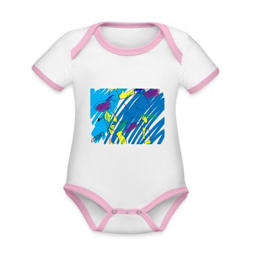 Signed Rainbow Cow - Organic Baby Contrasting Bodysuit