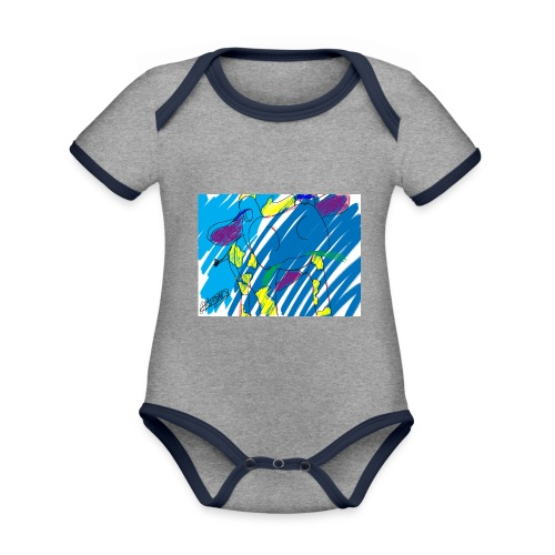 Signed Rainbow Cow - Organic Baby Contrasting Bodysuit