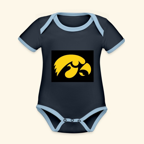 YellowHawk shirt - Baby contrasterend bio-rompertje met korte mouwen