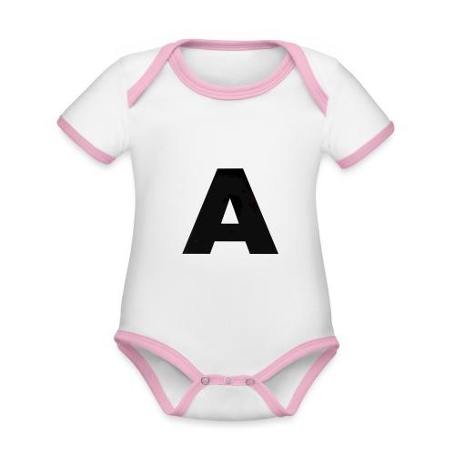 A-685FC343 4709 4F14 B1B0 D5C988344C3B - Kortærmet økologisk babybody i kontrastfarver
