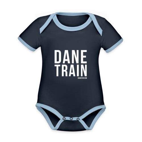 THE DANE TRAIN - Baby Bio-Kurzarm-Kontrastbody