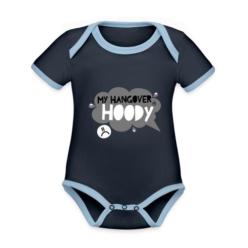 silver - Organic Baby Contrasting Bodysuit