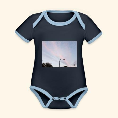 Abendhimmel - Baby Bio-Kurzarm-Kontrastbody