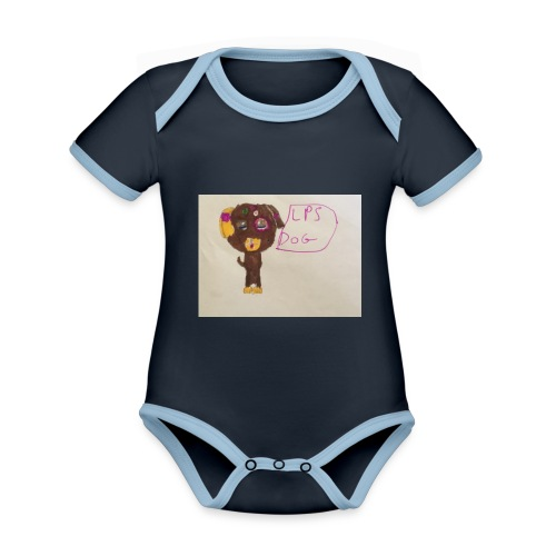 Little pets shop dog - Organic Baby Contrasting Bodysuit