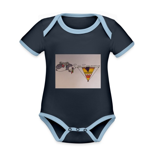 Animaux rigolos pour des accessoires bébé bio - Body Bébé bio contrasté manches courtes