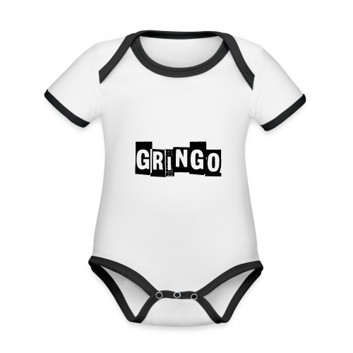 Cartel Gangster pablo gringo mexico tshirt - Organic Baby Contrasting Bodysuit