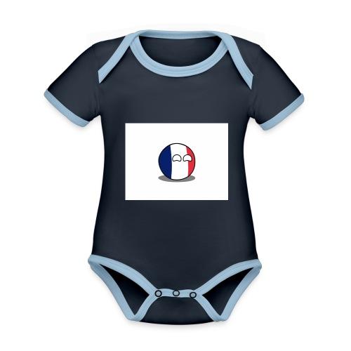 France Simple - Body Bébé bio contrasté manches courtes