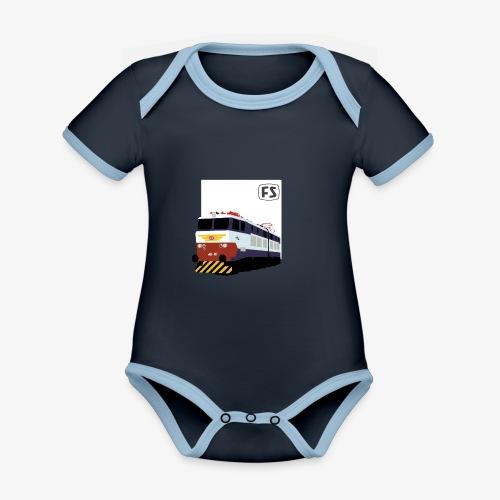 FS E 656 Caimano - Body da neonato a manica corta, ecologico e in contrasto cromatico