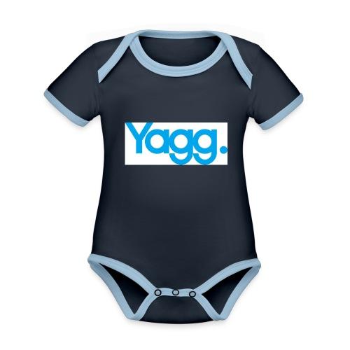 yagglogorvb - Body Bébé bio contrasté manches courtes