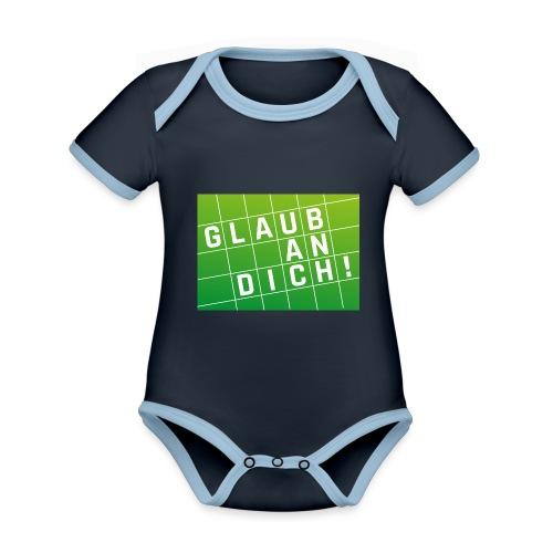 Glaub an Dich! - Baby Bio-Kurzarm-Kontrastbody