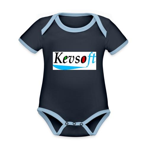 Kevsoft - Organic Baby Contrasting Bodysuit