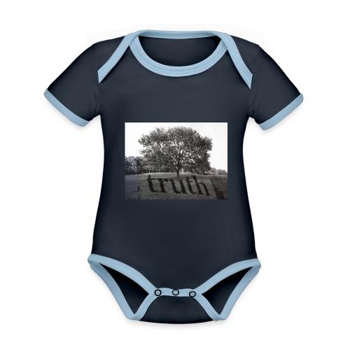 Truth - Organic Baby Contrasting Bodysuit