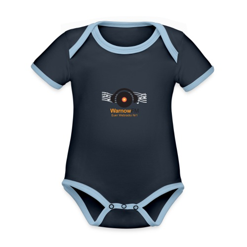 CD Kopfhörer - Baby Bio-Kurzarm-Kontrastbody