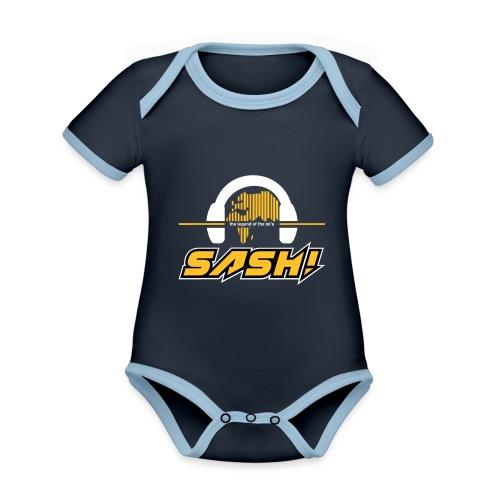 Sash! Logo 2020 Headfone - Organic Baby Contrasting Bodysuit