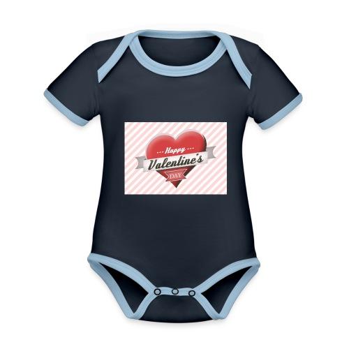 happy valentines day - Organic Baby Contrasting Bodysuit