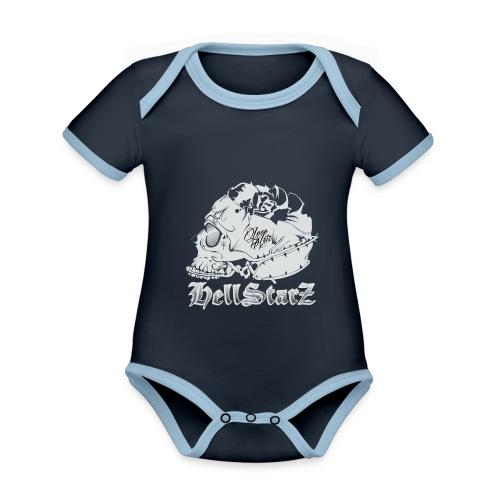 HELLSTARZ Skull Logo - Body Bébé bio contrasté manches courtes