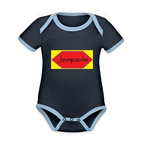 Jasonpczocker Design für gelbe Sachen - Baby Bio-Kurzarm-Kontrastbody