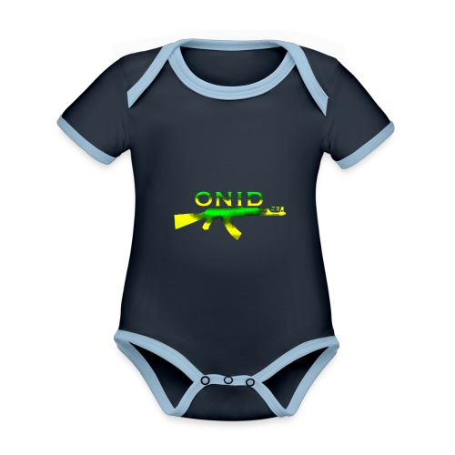 ONID-22 - Body da neonato a manica corta, ecologico e in contrasto cromatico