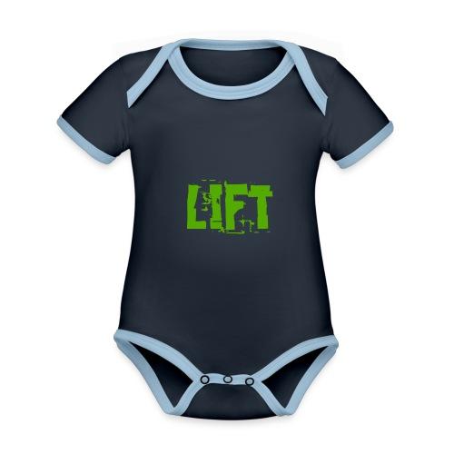 lift - Body da neonato a manica corta, ecologico e in contrasto cromatico