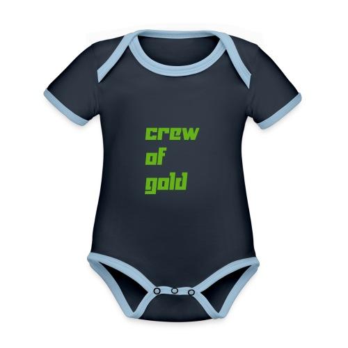 crew - Body da neonato a manica corta, ecologico e in contrasto cromatico