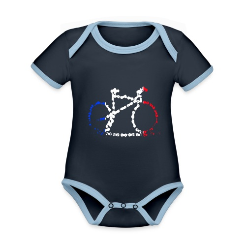 French bike chain - Organic Baby Contrasting Bodysuit
