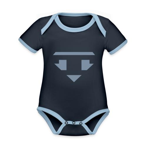 Twanneman logo Reverse - Baby contrasterend bio-rompertje met korte mouwen