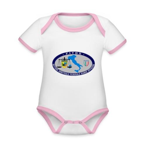 Logo SAFRO - Body da neonato a manica corta, ecologico e in contrasto cromatico