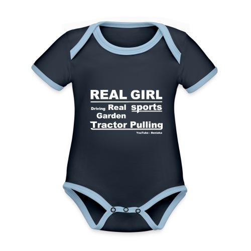 teenager - Real girl - Kortærmet økologisk babybody i kontrastfarver