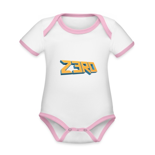 The Z3R0 Shirt - Organic Baby Contrasting Bodysuit