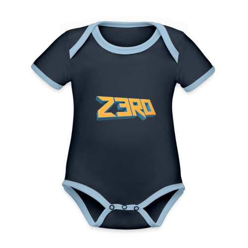 The Z3R0 Shirt - Organic Baby Contrasting Bodysuit