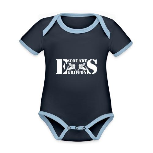 Logo ES.GR 2016 BL - Body Bébé bio contrasté manches courtes