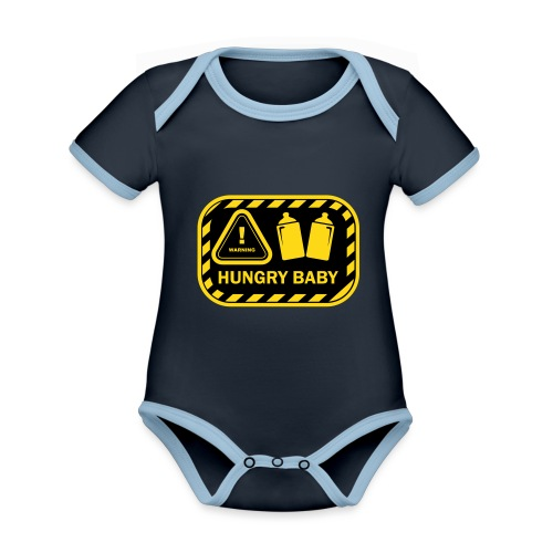 Hungry baby 1 - Baby Bio-Kurzarm-Kontrastbody