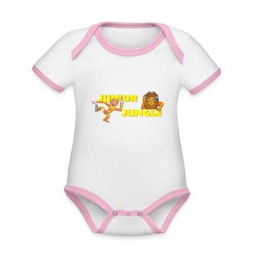 T-charax-logo - Organic Baby Contrasting Bodysuit