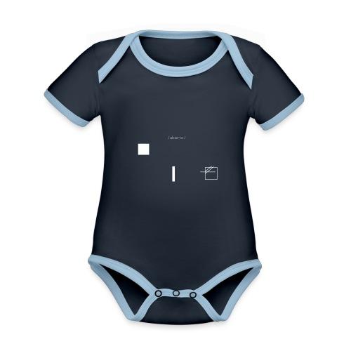 /obeserve/ sweater (M) - Økologisk kortermet kontrast-babybody