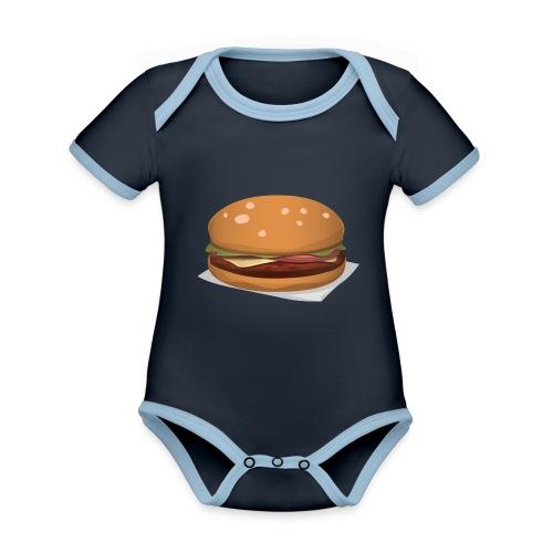 hamburger-576419 - Body da neonato a manica corta, ecologico e in contrasto cromatico