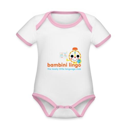 bambini lingo - the lovely little language club - Organic Baby Contrasting Bodysuit