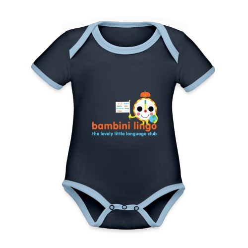 bambini lingo - the lovely little language club - Organic Baby Contrasting Bodysuit