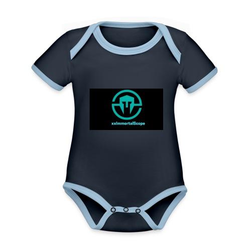 xxImmortalScope throwback - Organic Baby Contrasting Bodysuit