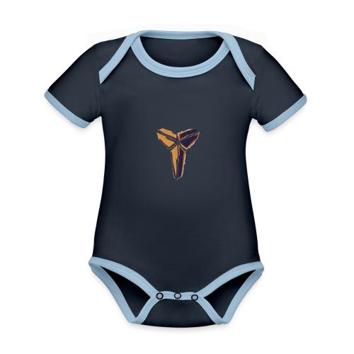 BlackMamba - Ekologisk kontrastfärgad kortärmad babybody