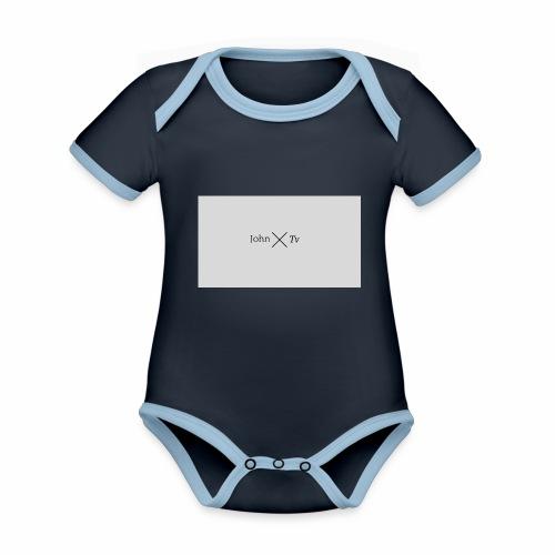 john tv - Organic Baby Contrasting Bodysuit