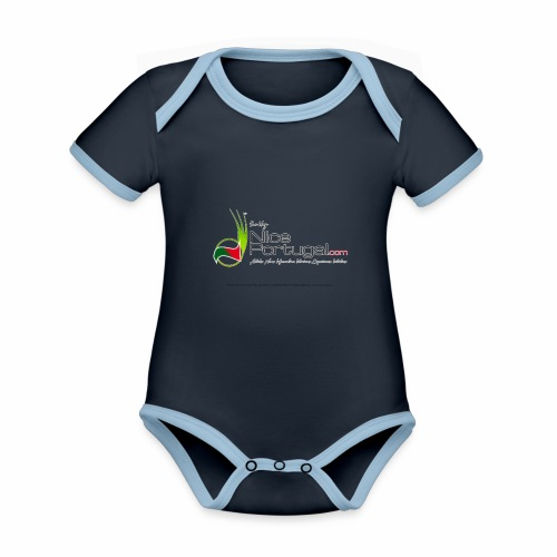 NicePortugal.com Logo - Body da neonato a manica corta, ecologico e in contrasto cromatico