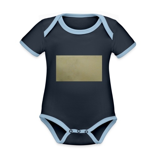 1511416685704631737378Marble t-shirt - Vauvan kontrastivärinen, lyhythihainen luomu-body