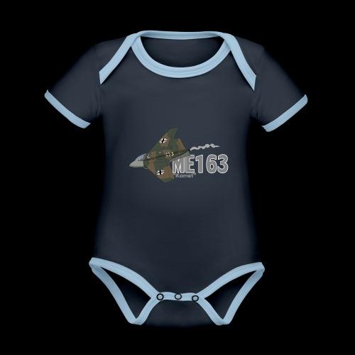 Me 163 Komet (Writing) - Body da neonato a manica corta, ecologico e in contrasto cromatico