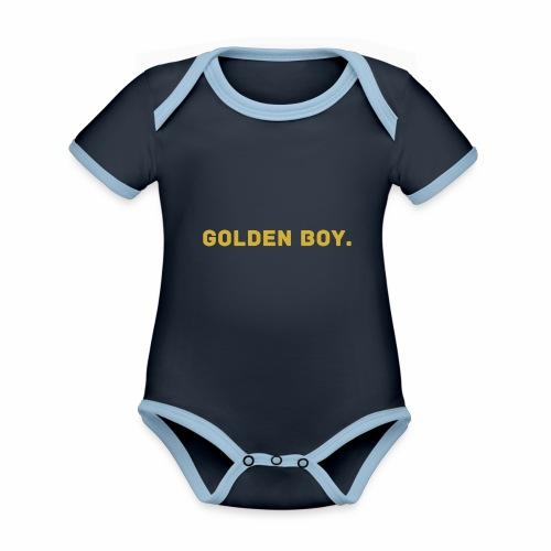 Millionaire. X GOLDEN BOY. - Organic Baby Contrasting Bodysuit