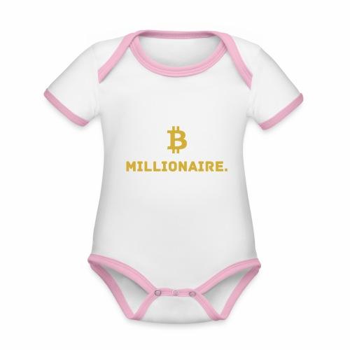 Millionaire. X Bitcoin Millionaire. - Organic Baby Contrasting Bodysuit