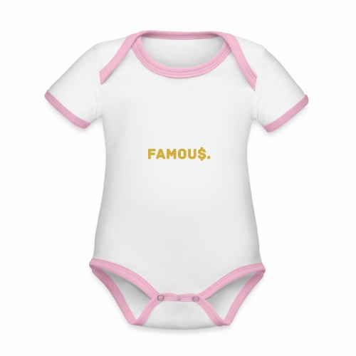 Millionaire. X Famou $. - Organic Baby Contrasting Bodysuit