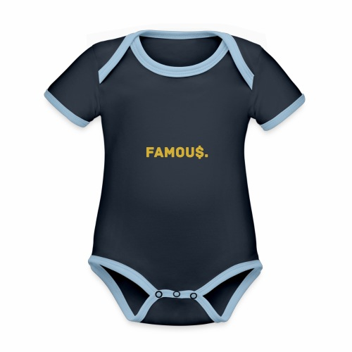 Millionaire. X Famou $. - Organic Baby Contrasting Bodysuit