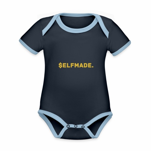 Millionaire. X $ elfmade. - Organic Baby Contrasting Bodysuit