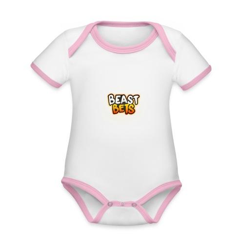 BeastBets - Kortærmet økologisk babybody i kontrastfarver